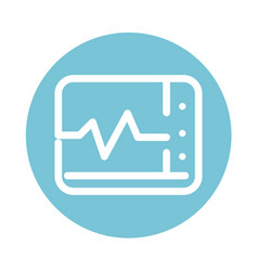 Monitoring heart rate medical and health care vector