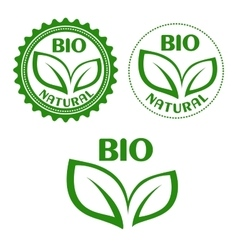 Natural bio food abels in retro style vector