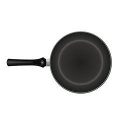 non-stick frying pan isolated image realistic vector image