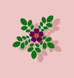 Paper sticker on background of rosa majalis vector