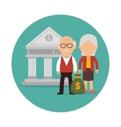 Pension funding graphic vector
