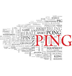 Ping word cloud concept vector