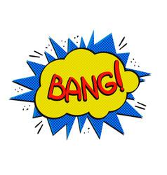 Pop art bang logo vector