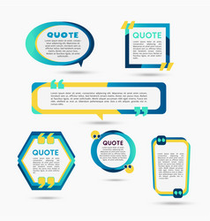Quote bubbles - modern color set of shapes vector