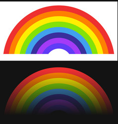 rainbow shape element with normal and fading vector image