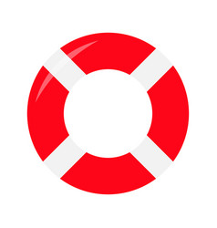 Red lifebuoy ring icon life buoy round circle for vector