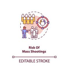 Risk mass shooting concept icon vector