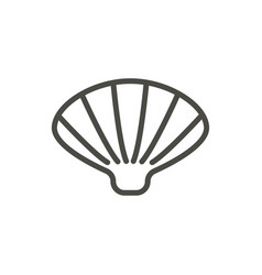 shell icon line sea shell symbol isolated vector image
