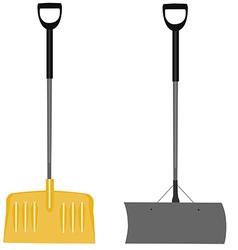 Snow shovels set vector image