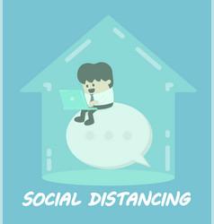 Social distance concept vector