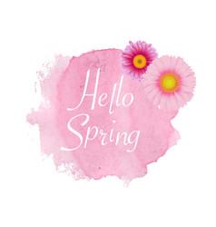 spring poster gerber vector image