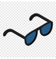 Sunglasses isometric 3d icon vector