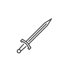 sword concept icon in thin line style vector image