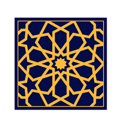 Traditional islamic design arabic ornament style vector
