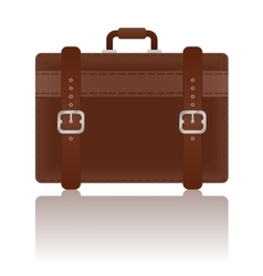 Travel Leather Suitcase vector