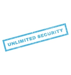 Unlimited Security Rubber Stamp vector