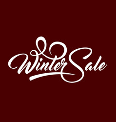 white text winter sale vector image vector image