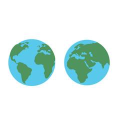 world globe maps on white background vector image