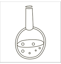 Chemical test tube icon outline style vector image