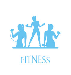 fitness club icon vector image vector image