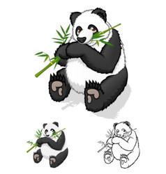 Giant Panda Cartoon Character vector image vector image