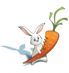 new year rabbit with carrot vector image vector image