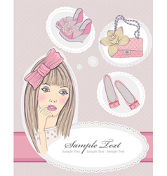 fashion girl dreaming vector image vector image