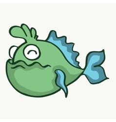 Funny fish cartoon design for kids vector image