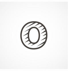 letter o logo icon design template elements vector image