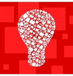 Sale a bulb vector image vector image