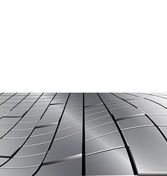 Warped Metal Cubes vector image vector image