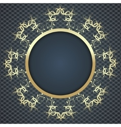 beautiful elegant card background with gold vector image vector image