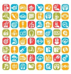 big music icons set vector image vector image
