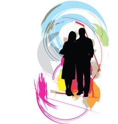 Fashion couple vector image vector image