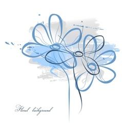 floral watercolor vector image vector image
