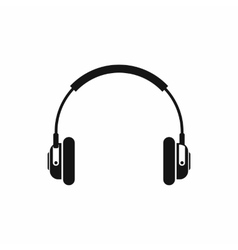 Headphones icon in simple style vector image vector image