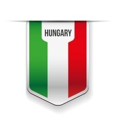 Hungary flag ribbon vector image