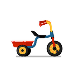 Little children tricycle isolated icon vector