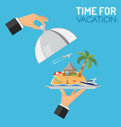 vacation and trip concept vector image