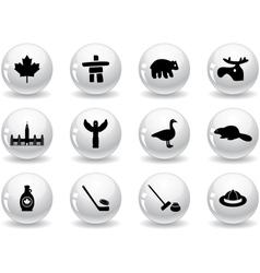 Web buttons Canada symbols vector image vector image