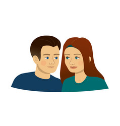 man woman young people teenagers loving couple vector image