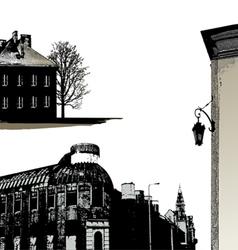 Set of few buildings - city scape vector image