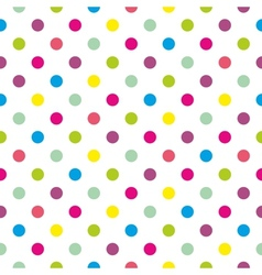 Tile polka dots background pattern or wallpaper vector image vector image