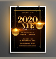 2020 happy new year eve party flyer template vector