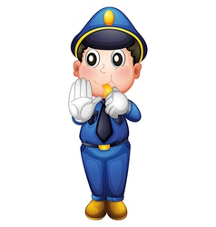 A traffic enforcer vector image