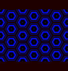 Abstract seamless assembled from hexagons cool vector