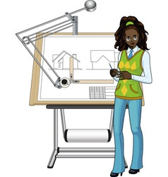 Afroamerican architect vector