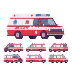 Ambulance car van vector