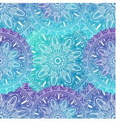 art seamless pattern mandala ethnic abstract vector image