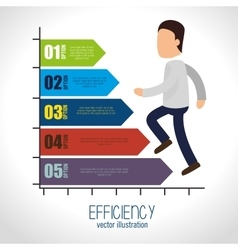 Avatar efficiency chart design isolated vector